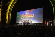 Cast of Avengers: Infinity War' attend the Los Angeles Global Premiere for Marvel Studios' Avengers: Infinity War on April 23, 2018 in Hollywood, California.