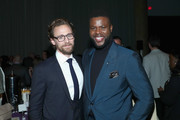 Actors Tom Hiddleston (L) and Winston Duke attends the Los Angeles Global Premiere for Marvel Studios' Avengers: Infinity War on April 23, 2018 in Hollywood, California.