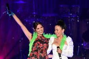 "Maia Mitchell and Cierra Ramirez speak onstage during Los Angeles LGBT Center Celebrates 50th Anniversary With ""Hearts Of Gold"" Concert & Multimedia Extravaganza at The Greek Theatre on September 21, 2019 in Los Angeles, California."