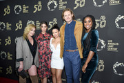 "(L-R) Emma Hunton, Maia Mitchell, Cierra Ramirez, Josh Pence and Zuri Adele attend Los Angeles LGBT Center Celebrates 50th Anniversary With ""Hearts Of Gold"" Concert & Multimedia Extravaganza at The Greek Theatre on September 21, 2019 in Los Angeles, California."