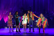 "(L-R) Maia Mitchell, Zuri Adele, Cierra Ramirez, Josh Pence and Emma Hunton speak onstage during Los Angeles LGBT Center Celebrates 50th Anniversary With ""Hearts Of Gold"" Concert & Multimedia Extravaganza at The Greek Theatre on September 21, 2019 in Los Angeles, California."