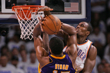 Andrew Bynum Los Angeles Lakers v Oklahoma City Thunder - Game Two