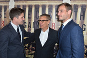 (L-R) Filmmakers Ben Cotner, HBO President of Programming Michael Lombardo, filmmaker Ryan White arrive at the Los Angeles Premiere Of HBO Documentary 'The Case Against 8' at Directors Guild Of America on June 3, 2014 in Los Angeles, California.