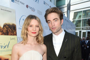 Mia Wasikowska (L) and Robert Pattinson attend Los Angeles Premiere of Magnolia's DAMSEL, sponsored by Casa Noble on June 13, 2018 in Los Angeles, California.