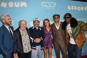 (L-R) Zac Efron, Jimmy Buffett, Harmony Korine, Isla Fisher, Matthew McConaughey and Snoop Dogg arrive at the Los Angeles Premiere for Neon and Vice Studio's The Beach Bum at ArcLight Hollywood on March 28, 2019 in Hollywood, California.