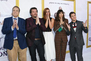 """John Goodman, Danny McBride, Cassidy Freeman, Edi Patterson and Adam DeVine attend the Los Angeles Premiere Of New HBO Series """"The Righteous Gemstones"""" at Paramount Studios on July 25, 2019 in Hollywood, California."""