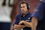 Head coach Jeff Fisher of the Los Angeles Rams walks the sidelines during the second quarter of the NFL game against the Arizona Cardinals at the University of Phoenix Stadium on October 2, 2016 in Glendale, Arizona.