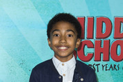 """Actor Miles Brown attends the Los Angeles Red Carpet Screening of """"Middle School"""" in Hollywood, California, on October 5, 2016. / AFP / VALERIE MACON"""