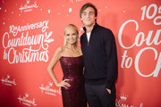 "Kevin Quinn and Kristin Chenoweth arrive at the Los Angeles special screening of Hallmark Channel's ""A Christmas Love Story"" at Montage Beverly Hills on October 21, 2019 in Beverly Hills, California."
