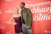 "Kristin Chenoweth and Keith Robinson arrive at the Los Angeles special screening of Hallmark Channel's ""A Christmas Love Story"" at Montage Beverly Hills on October 21, 2019 in Beverly Hills, California."