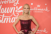 "Kristin Chenoweth arrives at the Los Angeles special screening of Hallmark Channel's ""A Christmas Love Story"" at Montage Beverly Hills on October 21, 2019 in Beverly Hills, California."