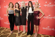 "Candace Cameron-Bure, Lacey Chabert, Michelle Vicary, Marisol Nichols, and Kristin Chenoweth, and arrive at the Los Angeles special screening of Hallmark Channel's ""A Christmas Love Story"" at Montage Beverly Hills on October 21, 2019 in Beverly Hills, California."