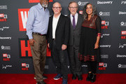 "(L-R) Sam Pollard, Alex Gibney, Steven Spielberg and Geeta Grandbhir attend the Los Angeles special screening of ""Why We Hate"" at Museum Of Tolerance on October 07, 2019 in Los Angeles, California."