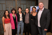 "Amy Okuda, Producer Mary Rohlich, Brigette Lundy-Paine, Keir Gilchrist, Executive Producer Robia Rashid and Michael Rapaport attend the Los Angeles Special Screening of Netflix's ""Atypical"" Season 2""  at The London Hotel on September 5, 2018 in West Hollywood, California."