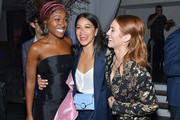 """DeWanda Wise, Gina Rodriguez and Brittany Snow attend the after party for the special screening of Netflix's """"Someone Great"""" at ArcLight Hollywood on April 17, 2019 in Hollywood, California."""