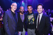 "(L-R) Director Peyton Reed, Jeffrey Wright, Elijah Wright and Paul Rudd attend the Los Angeles World Premiere of Marvel Studios' ""Avengers: Endgame"" at the Los Angeles Convention Center on April 23, 2019 in Los Angeles, California."