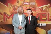 "(L-R) Actor Rune Temte and director/writer Ryan Fleck attend the Los Angeles World Premiere of Marvel Studios' ""Captain Marvel"" at Dolby Theatre on March 4, 2019 in Hollywood, California."