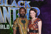 Actor David Oyelowo and Jessica Oyelowo at the Los Angeles World Premiere of Marvel Studios' BLACK PANTHER at Dolby Theatre on January 29, 2018 in Hollywood, California.
