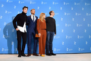Actor Robert Pattinson, actor Charlie Hunnam, actress Sienna Miller and film director James Gray attend the 'The Lost City of Z' photo call during the 67th Berlinale International Film Festival Berlin at Grand Hyatt Hotel on February 14, 2017 in Berlin, Germany.