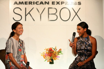 Lottie Oakley American Express at MBFW Spring 2015 Collections, American Express Skybox Q&A