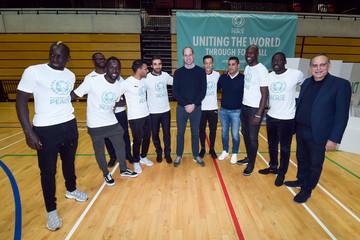Louis Saha The Duke Of Cambridge Attends A Football For Peace Graduation Ceremony