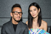 Hidetoshi Nakata and Tao Okamoto attendthe Louis Vuitton show as part of the Paris Fashion Week Womenswear Fall/Winter 2019/2020  on March 05, 2019 in Paris, France.