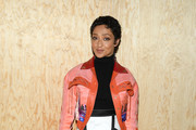 Ruth Negga attends the Louis Vuitton Womenswear Spring/Summer 2020 show as part of Paris Fashion Week on October 01, 2019 in Paris, France.