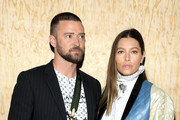 Justin Timberlake and Jessica Biel attend the Louis Vuitton Womenswear Spring/Summer 2020 show as part of Paris Fashion Week on October 01, 2019 in Paris, France.