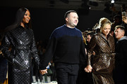 (L-R) Naomi Campbell, Kim Jones and Kate Moss walk the runway during the Louis Vuitton  Menswear Fall/Winter 2018-2019 show as part of Paris Fashion Week on January 18, 2018 in Paris, France.