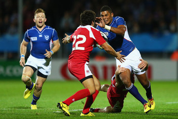 Louis van der Westhuizen Namibia v Georgia - Group C: Rugby World Cup 2015