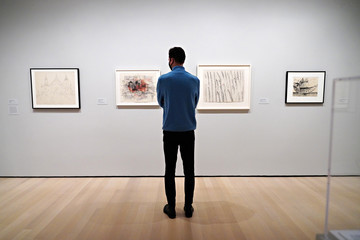 """Louise Bourgeois """"Degree Zero: Drawing At Midcentury"""" Exhibit Press Preview"""