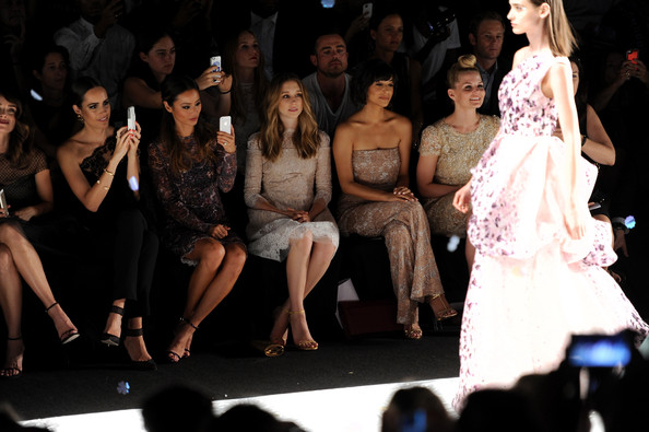 Monique Lhuillier - Front Row - Mercedes-Benz Fashion Week Spring 2015