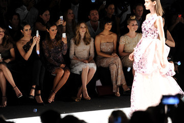 Louise Roe Jamie Chung Monique Lhuillier - Front Row - Mercedes-Benz Fashion Week Spring 2015