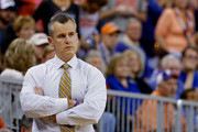 Head coach Billy Donovan of the Florida Gators  looks on during the second half of the game against the Louisiana Monroe Warhawks at Stephen C. O'Connell Center on November 21, 2014 in Gainesville, Florida.
