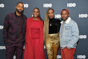 "Jay Ellis, Issa Rae, Yvonne Orji and Prentice Penny attend the Lowkey ""Insecure"" Dinner presented by Our Stories to Tell at Firewood on January 25, 2020 in Park City, Utah."