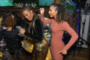 "Yvonne Orji and Elaine Welteroth attend the Lowkey ""Insecure"" Dinner presented by Our Stories to Tell at Firewood on January 25, 2020 in Park City, Utah."