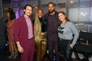 "Alexander Hodge, Yvonne Orji, Jay Ellis and Lucinda Martinez attend the Lowkey ""Insecure"" Dinner presented by Our Stories to Tell at Firewood on January 25, 2020 in Park City, Utah."