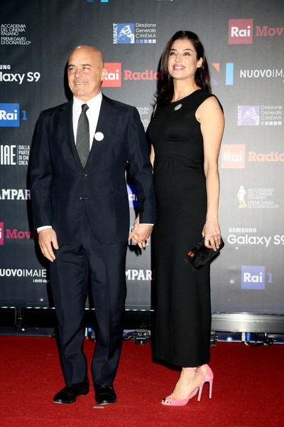 62. David Di Donatello - Red Carpet [red carpet,carpet,suit,red carpet,event,premiere,formal wear,little black dress,tuxedo,dress,flooring,david di donatello,luca zingaretti,luisa ranieri,red carpet,italy,rome,ceremony]