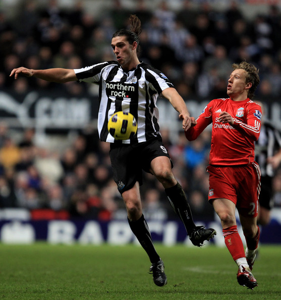 Premier league match between newcastle united and liverpool at st