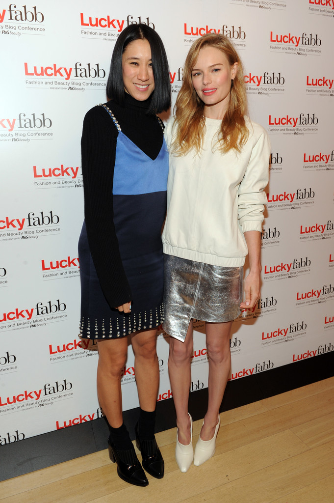 Editor in Chief of Lucky, Eva Chen and Kate Bosworth attend Lucky Magazine's Two-Day East Coast FABB: Fashion and Beauty Blog Conference  on October 25, 2013 in New York City.