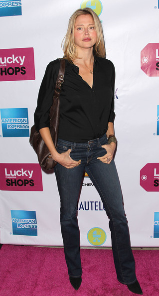 "Actress Estella Warren attends Lucky Magazine Host The First Annual ""Lucky Shops LA"" at Siren Studios on April 7, 2011 in Los Angeles, California."