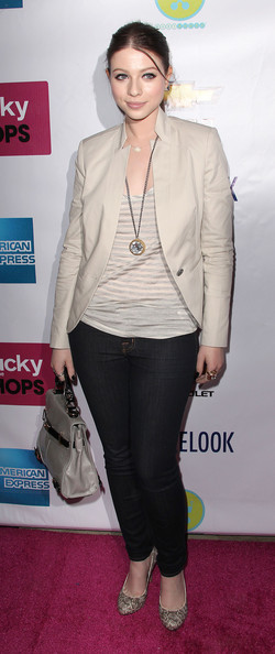 "Actress Michelle Trachtenberg attends Lucky Magazine Host The First Annual ""Lucky Shops LA"" at Siren Studios on April 7, 2011 in Los Angeles, California."