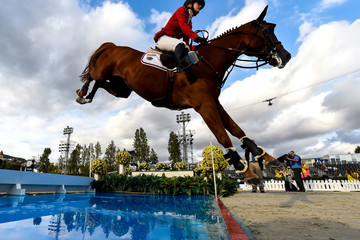 Lucy Davis FEI Nations Horse Jumping Final - Day 1