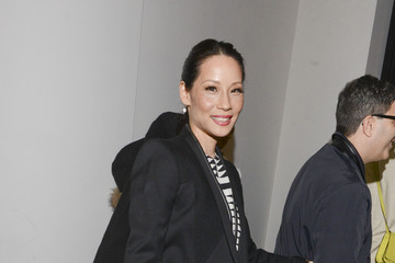 Lucy Liu Backstage at Edun