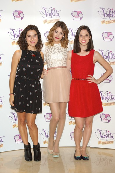 'Violetta' Madrid Photo Call [violetta,madrid photocall,clothing,dress,cocktail dress,fashion,event,fashion design,footwear,fashion model,premiere,long hair,ludovica comello,martina stoessel,l-r,madrid,spain,emperador hotel,alba rico,photocall]