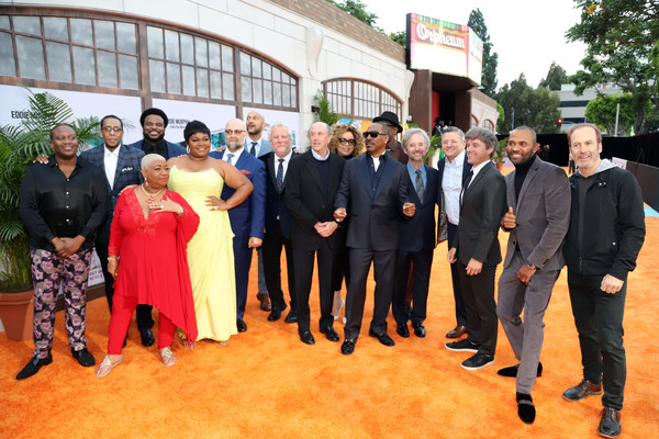 Netflix Presents 'Dolemite Is My Name' Los Angeles Premiere [netflix presents ``dolemite is my name,event,ceremony,suit,formal wear,team,ron cephas jones,craig robinson,keegan-michael key,mike epps,craig brewer,davine joy randolph,l-r,los angeles,premiere]