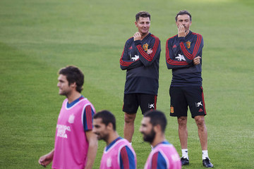 Luis Enrique Spain Training Session And Press Conference