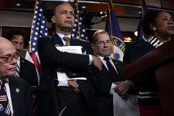 Luis Gutierrez Rep. Jerrold Nadler (D-NY) Holds News Conference To Denounce The Meeting Between Justice And FBI Officials And Rep. Nunes And Rep. Gowdy