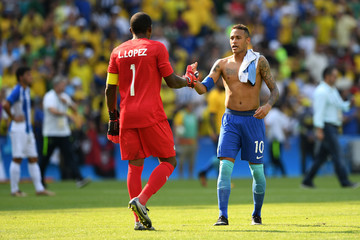 Luis Lopez Brazil vs Honduras - Semi Final: Men's Football - Olympics: Day 12
