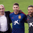 Luis Manuel Rubiales Spain Training Session And Press Conference